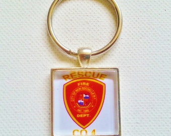 CITY OF new rochelle n.y. rescue co.4 key chain