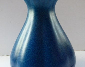 1930s Pilkingtons ROYAL LANCASTRIAN Vase. Stylish Dark Lapis Blue; Large Gourd Shape. No. 2335