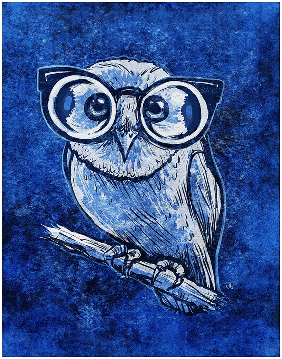 Owl with Glasses #2