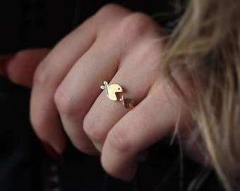 14K Gold Fish Ring/Handmade Gold Fish Ring Available in 14k Gold, White Gold or Rose Gold