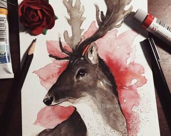 Wildlife with flower