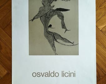 vintage OSVALDO LICINI poster (1973)