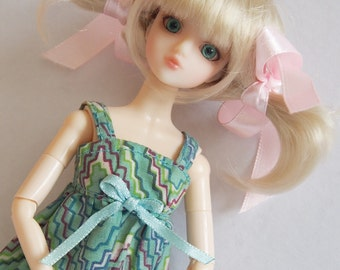 """TMS34-03 3-4""""  Pukipuki JDoll  Doll Synthetic Mohair Wig  BJD 1/12"""