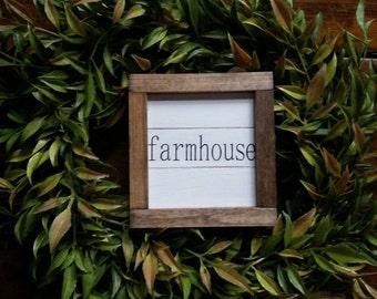 Rustic farmhouse inspired wood framed farmhouse shiplap ornament