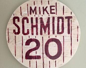 Mike Schmidt Retired Number Sign