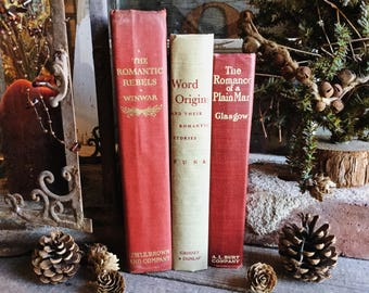 Old Books - A Little Romance FREE SHIPPING
