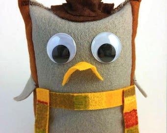 Doctor Who Doctor Hoot Owl Stuffie Plush Doll - Four Tom Baker