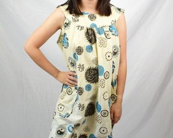 Vintage 70s 80s Ying Yang Fun Mumu Dress