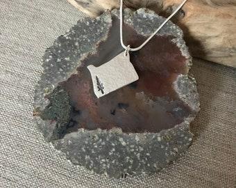 Oregon State Redwood Silver Pendant