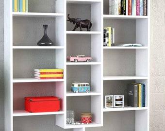Modern bookcase,handmade bookshelf