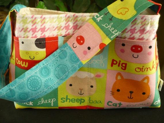 Farm Animals Mini Diaper Bag