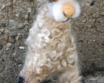 Alpaca Needle felted soft sculpture