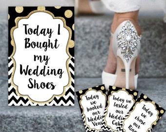 Wedding Milestone cards, wedding selfie cards, wedding cards, wedding invitation, milestone cards, printable cards, wedding day,wedding gift