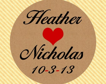 2.5 Inch Custom Mason Jar Labels Rustic Kraft Paper Perfect for Wedding Favors and More