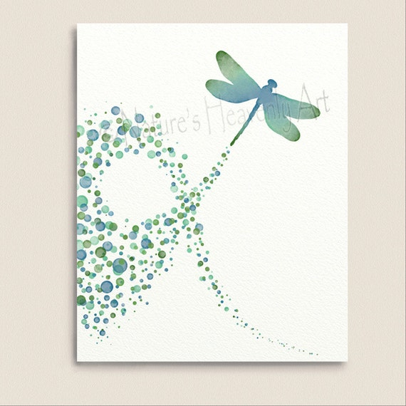 Blue Green Wall Art Dragonfly Decor Dragonfly For Wall