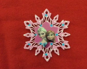 Set of 5 Frozen Snowflake Resin