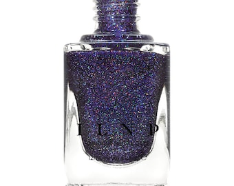 Night Light - Deep Blue Violet Holographic Sheer Jelly Nail Polish