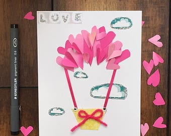 Valentines card 'Love is in the air...'