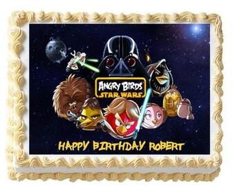 Angry Birds star wars edible image