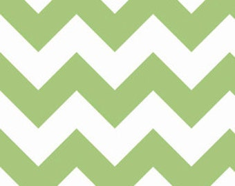 1 yard of Large Green Chevron by Riley Blake