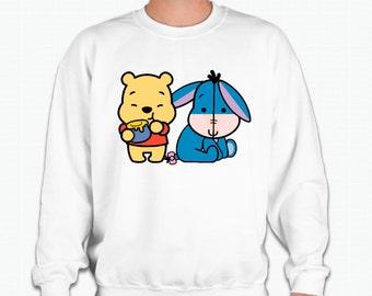 Chibi Winnie the Pooh and Eeyore Sweatshirt