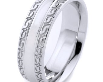 Mens Wedding Band, Mens Wedding Ring, White Gold Band, Gold Wedding Band, White Gold Mens Ring, Mens Engagement Ring, Mens Anniversarry Ring
