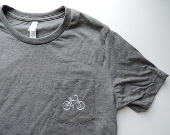 New Adult Tiny Bike Soft Pocket Tee Shirt // Size S - 2XL