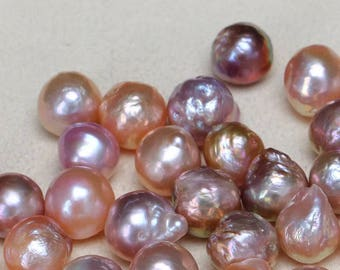 Top 5pcs 11-13mm multicolored edsion loose pearls