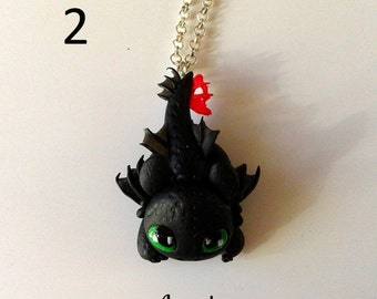 Dragon Trainer FAN ART Toothless Sdentato How to Train Your Dragon Furia Buia Night Fury Collana