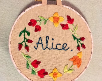 Personalised Embroidery Hoops
