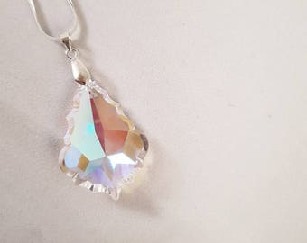 Stunning crystal and silver necklace