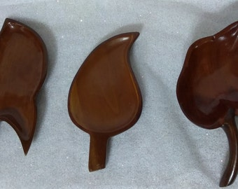 3 Individual Bowls made of Santo Domingo Mahogany**  PreOwned and Well Cared for Excellent Condition