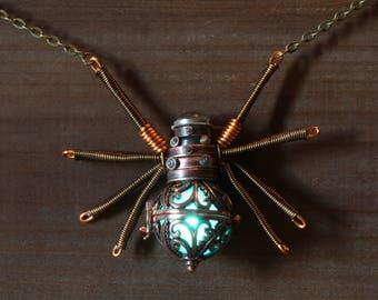 Steampunk Spider Pendant