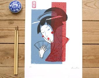 SCREEN PRINTING - GEISHA Yakusha-e