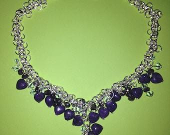 Purple Agate Love Necklace