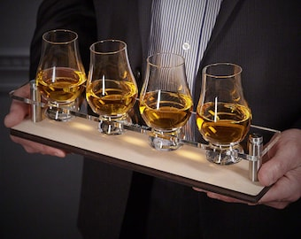 Glencairn Personalized Serving Tray 5 pc Set - Whiskey Lover/Connoisseur
