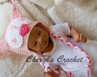 Cheryl's Crochet CC95 Baby Grace Owl Bonnet & BootiesPDF Download Crochet Pattern