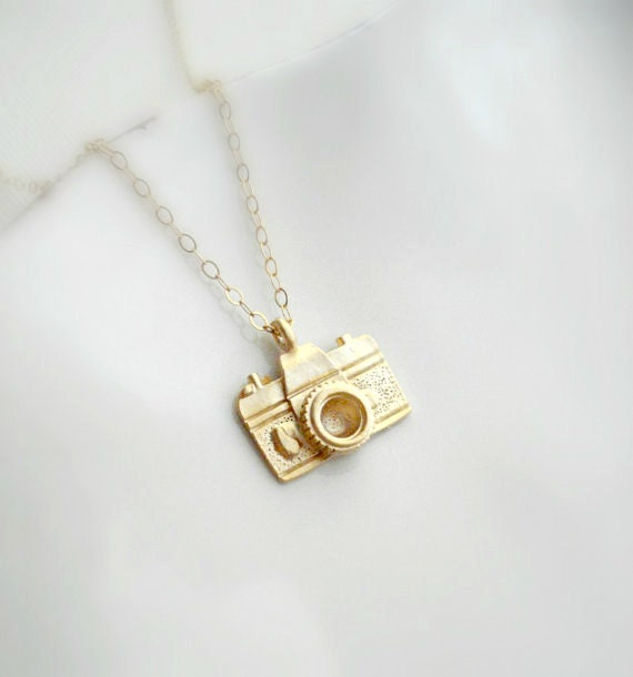Little camera necklace in gold or silver gift for zoom aloadofball Gallery