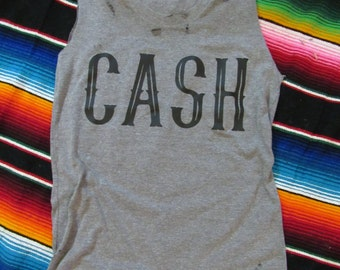CASH/ Johnny Cash/ Tattered & Torn/ Relaxed fit muscle tank