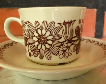 Arabia of Finland. Elina Flint, Esteri Tomula coffee cup and saucer.