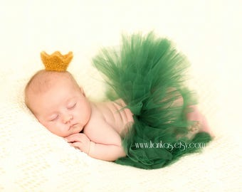 Hunter Green Baby Tutu Skirt, Toddler Birthday Tutu, Infant Baby Tutu, Baby Infant Photo Props, Holiday Tutu, Fluffy Tutu, TUTU ONLY