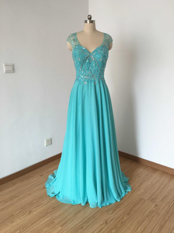 Long Prom Dress Prom Dress 2016 Cap Sleeves Prom Dress