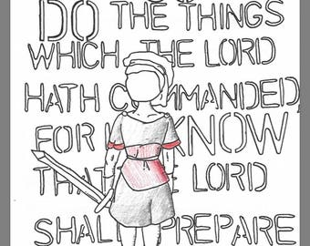 Go and Do LDS Seminary Coloring Page