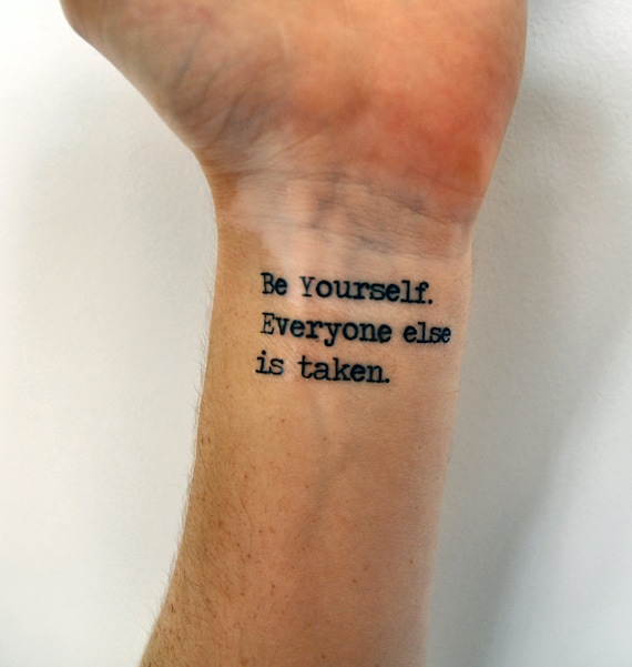 Tattoo Quotes Finding Yourself: Items Similar To Individuality Quote Temporary Tattoo