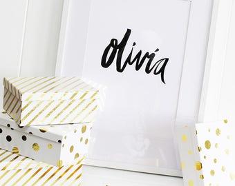 Name Typography Print - Custom