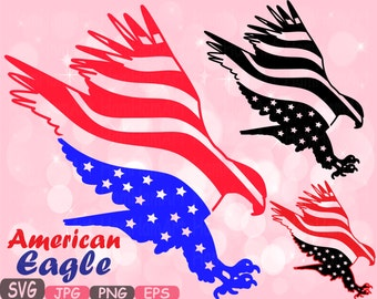 American flag svg Eagle USA Eagles File independence day 4th of July svg Monogram Cutting Files Clipart eps png jpg Vinyl ClipArt Old 473s