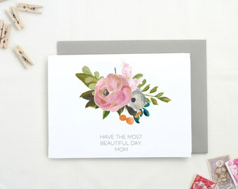 Mother's Day Card. Mother's Day Gift. Happy Mother's Day. Card for Mom. Cute Mother's Day Card. Floral Mothers Day Card. Mom Card.