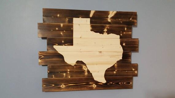 Texas Silhouette Rustic Wall Art