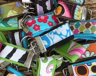SALE-Grab Bag-10 BEAUTIFUL MINI-MInI Keychains-That's 3.00 Per Fob-Perfect Holiday Gift