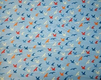Shore Birds Boppy Pillow Cover with Orange Minky on Back, Slip Cover, Nursing Pillow Cover, Zipper for Easy and off